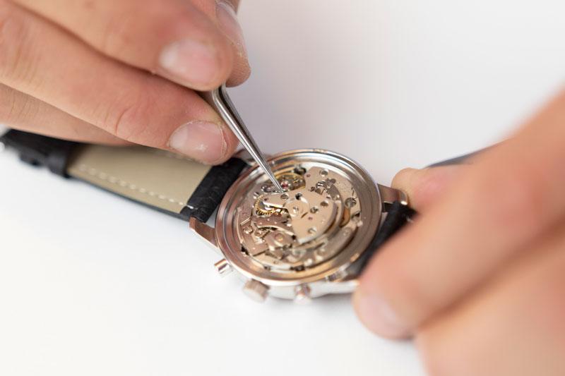 Reparatie van horloge