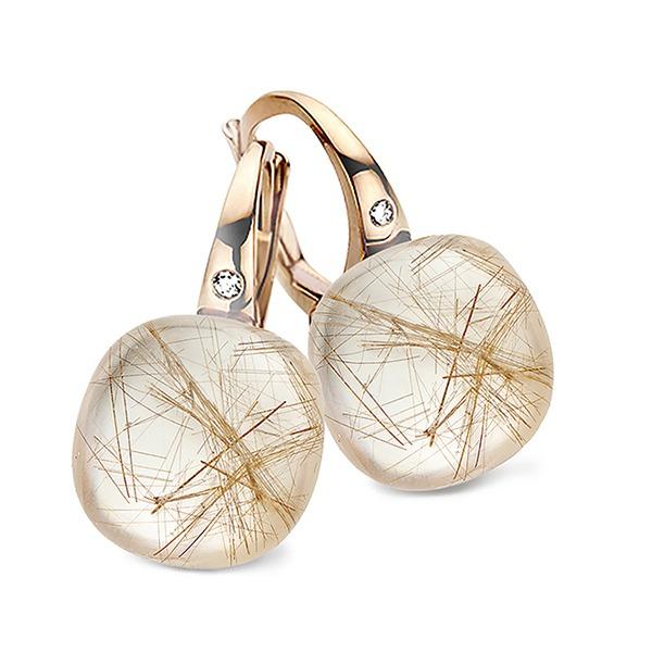 Bigli - Rutile quartz earring