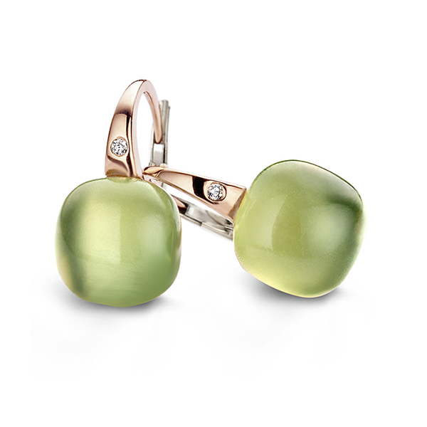 Bigli - Green aventurine earring