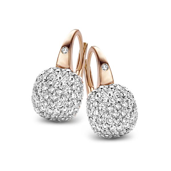 Bigli - White diamond earrings