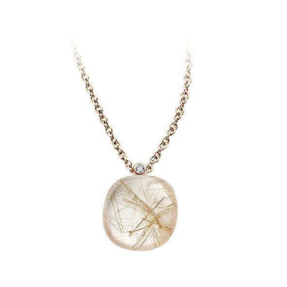 Bigli - Rutile quartz pendant